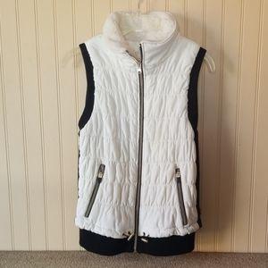 Calvin Klein vest medium cream/white black pockets